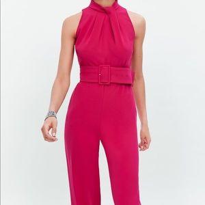 Zara Women's Hot Pink Jumpsuit Sz M